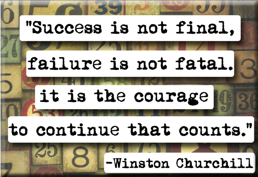 Winston Churchill Quote Courage