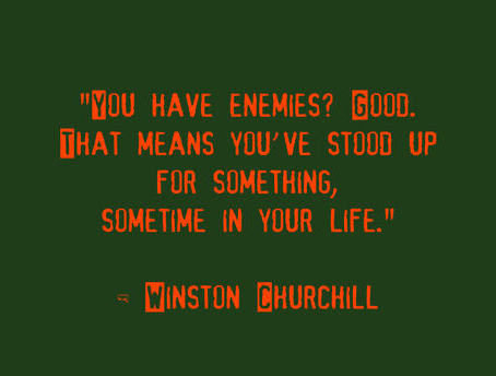 Winston Churchill Enemies Quote
