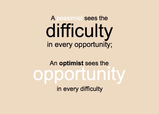 Pessimist Quote