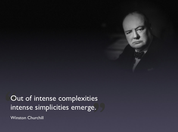 Winston Churchill Quote Simplicities