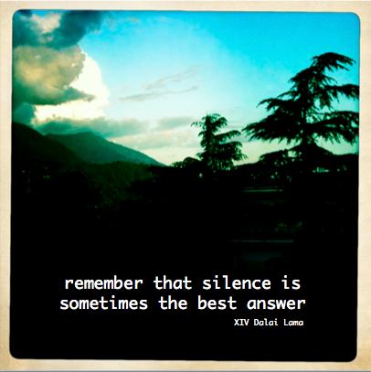 Dalai Lama Silence Quote
