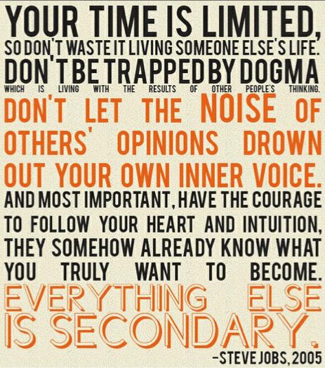 Steve Jobs Inspiring Quote