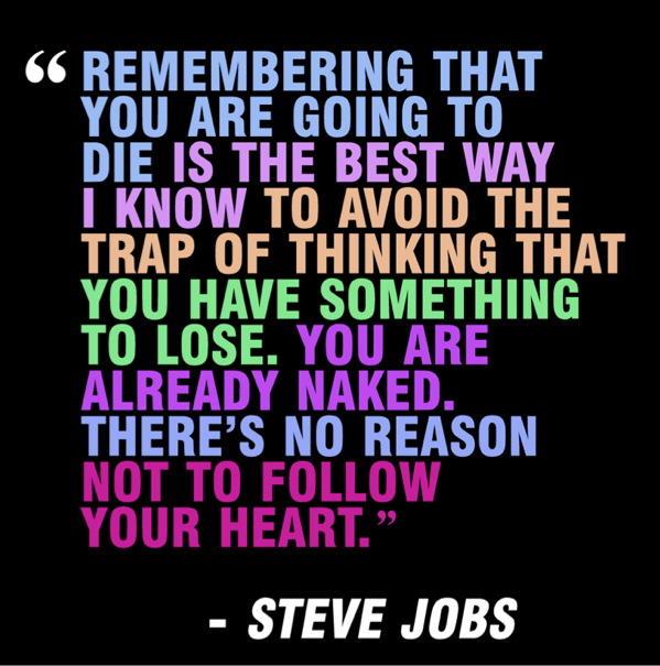 Steve Jobs Remember to Die Quote