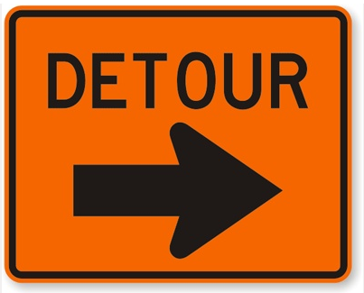 Next time you're in a crappy situation just take a detour!
