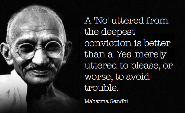 Gandhi Conviction Quote