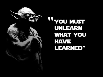 Yoda Unlearn Quote