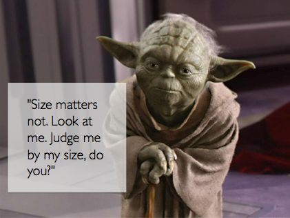 Yoda Size Quote