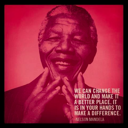 nelson mandela change the world quote