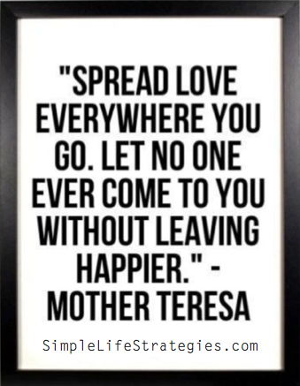 spread love wherever you go quote