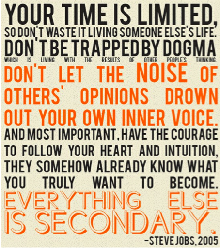 steve jobs quote your time is limited