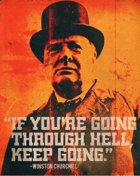 Churchill Hell Quote
