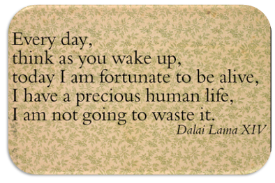 Dalai Lama Fortunate Quote