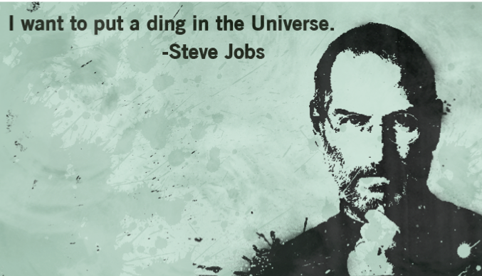 Steve Jobs Ding in Universe Quote