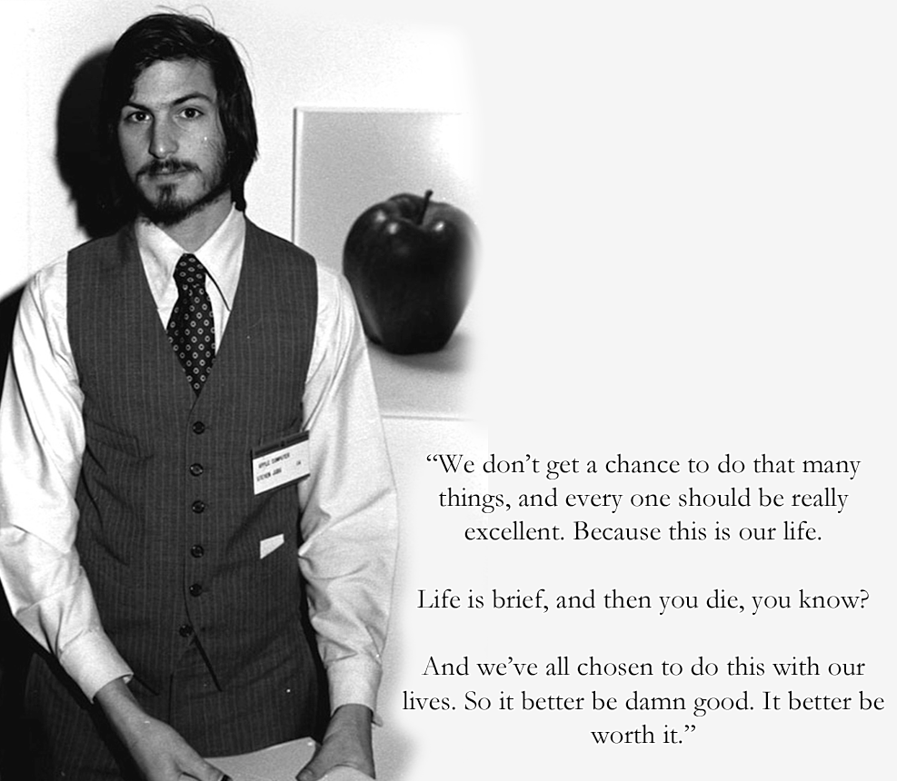 Steve Jobs Life is Brief Quote