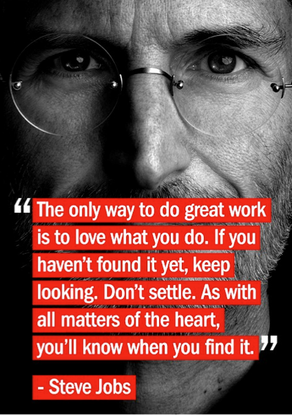 Steve Jobs Love What you Do Quote