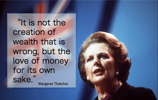 Margaret Thatcher Wealth Quote