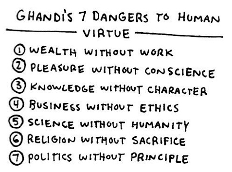 Gandhi 7 Virtues Quote