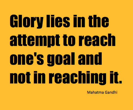 Gandhi Glory Quote