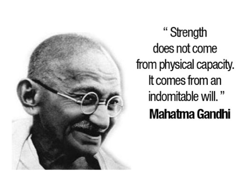 Gandhi Strength Quote