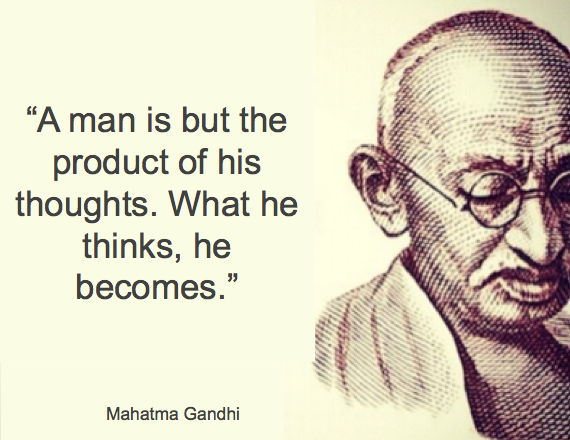 Gandhi Quote - A Man is But a Product of His Thoughts