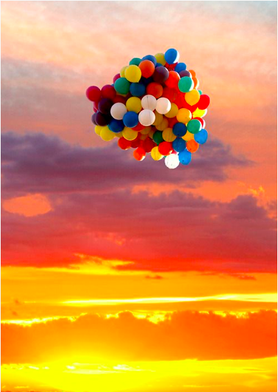 inspiring colourful baloons
