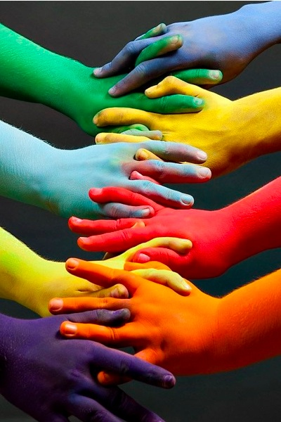 inspiring colourful hands