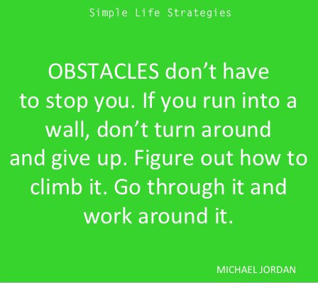 Micahel Jordan Obstacles Quote