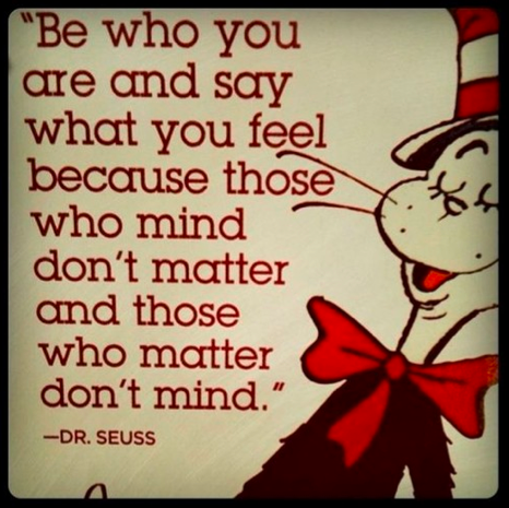 dr seuss - be who you are