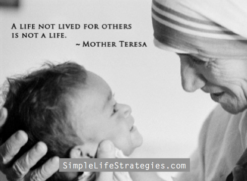 mother theresa life not lived quote