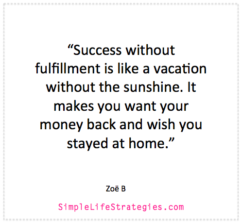 success & fulfilment