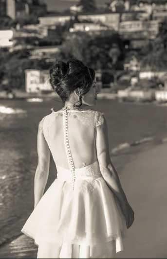 vintage wedding dress - back