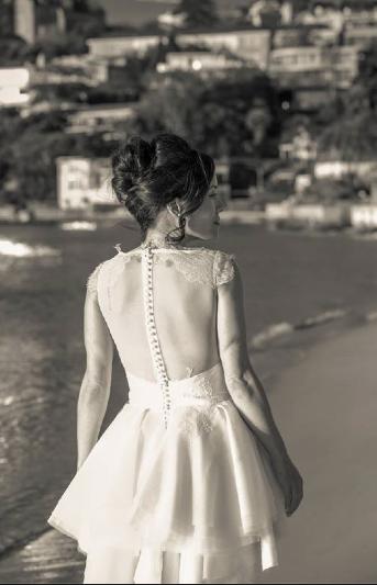 vintage wedding dress - back