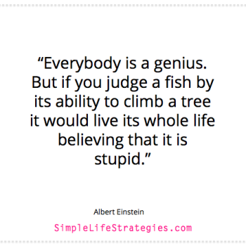 Einstein fish quote