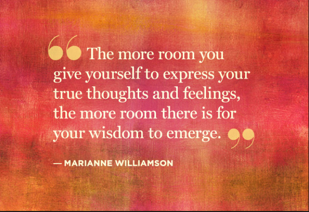 Marianne Williamson quote - express yourself