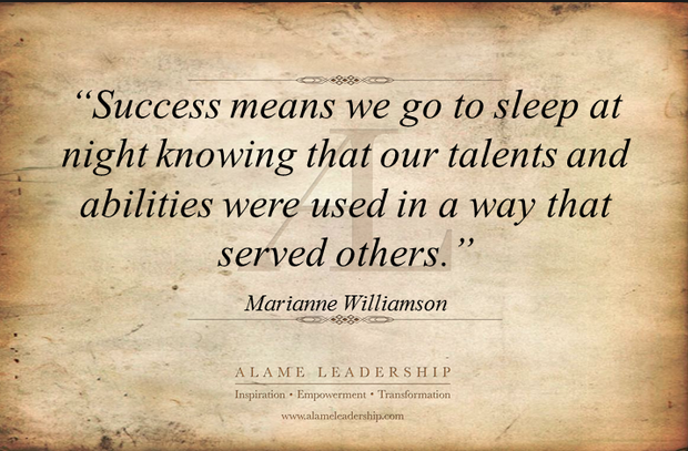 Marianne Williamson Success Quote