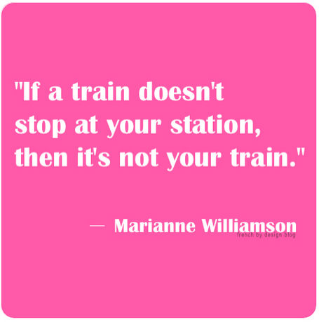 Not Your Train Quote
